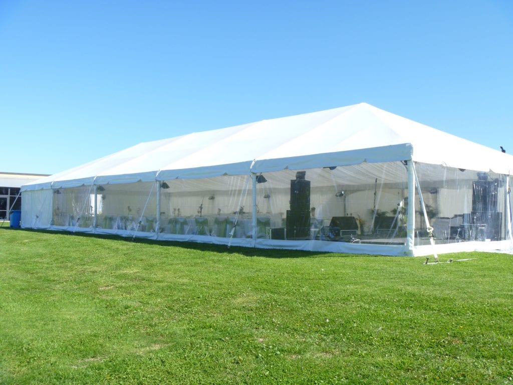 10m hire wedding marquee on lush green lawn