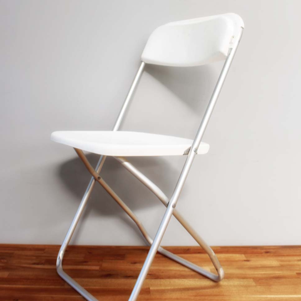 White Folding Chair Dobsons Marquee & Party Hire