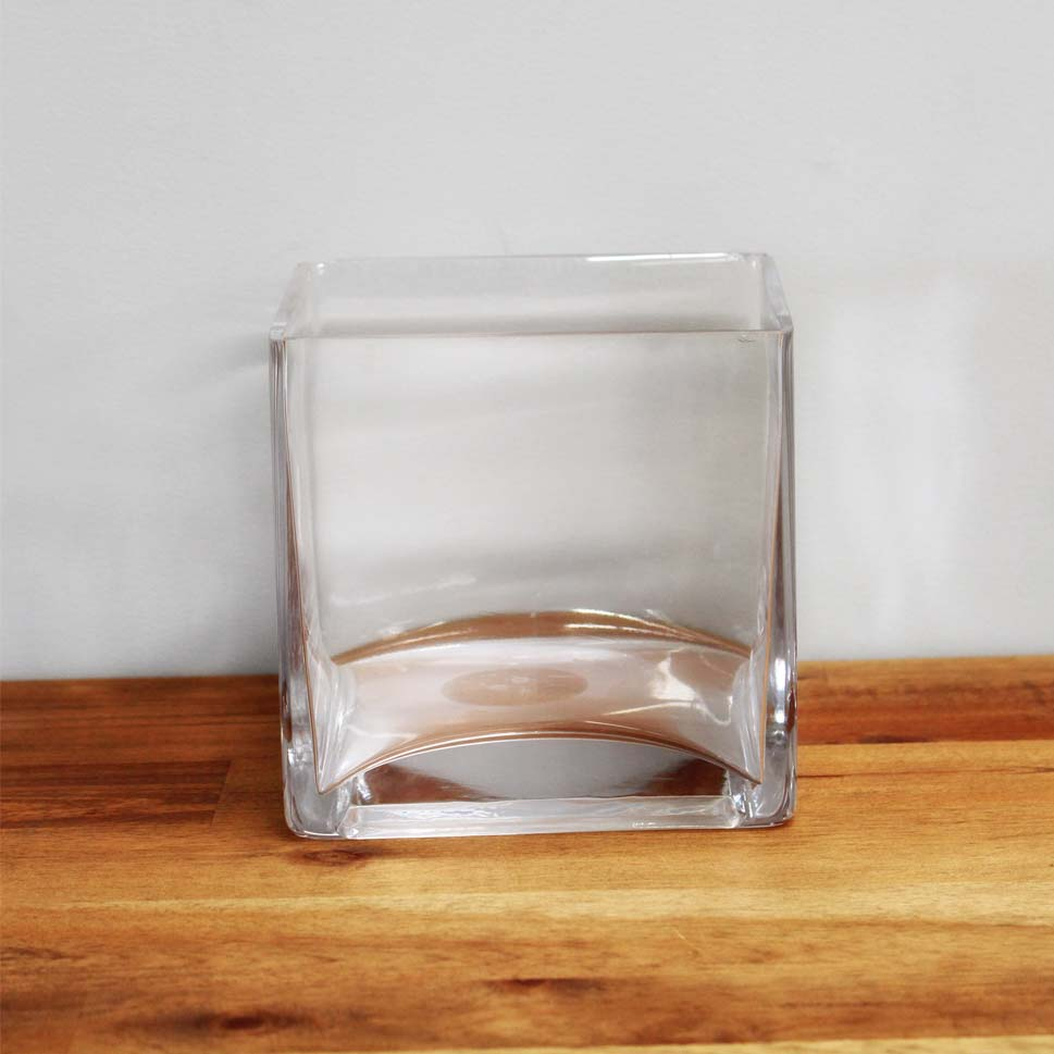 Vase glass short square dobsons marquee party hire short square vase reviewsmspy