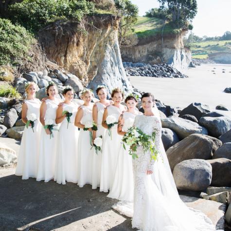 Jasmine and her bridesmaids
