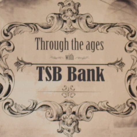 TSB Bank through the ages sign