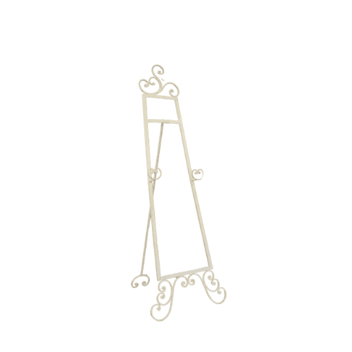 White Wrought Iron Easel