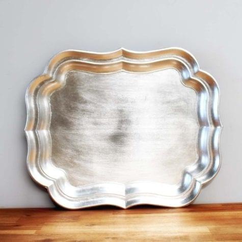 Silver Scalloped Platter