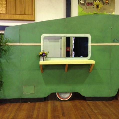 Green Caravan Front
