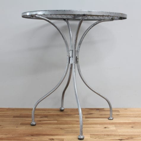 Metal cake table