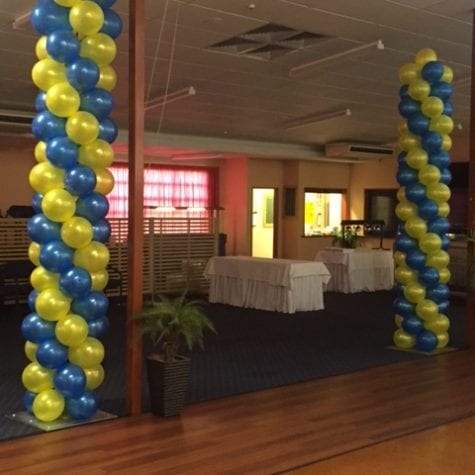 balloon columns for event decoration