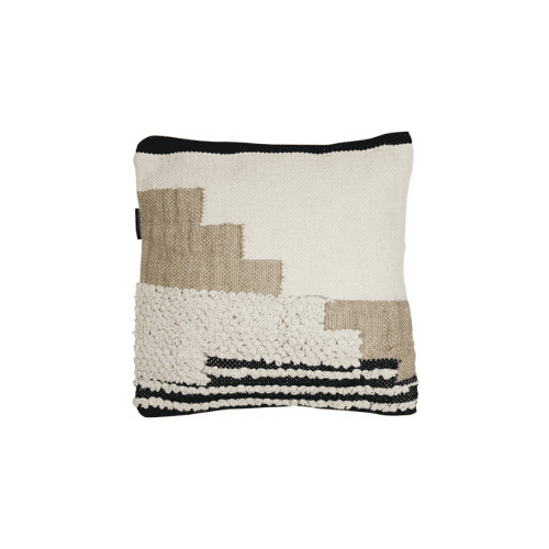 Black, White & Tan Cushion